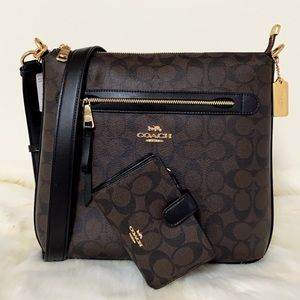 New💃Coach Mae File Crossbody And Wallet Set
